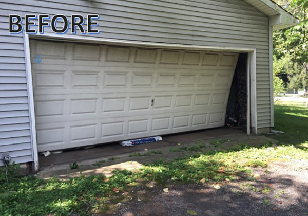 Two Car Garage - Before