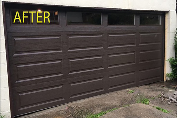 Brown Door Garage - After