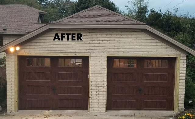 After, 2 Car Garage
