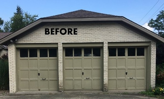 Before, 3 Car Garage