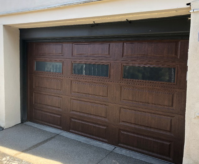 Ultra Grain Walnut Garage Door