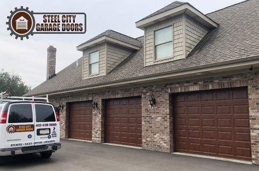 Steel City Garage Doors Walnut