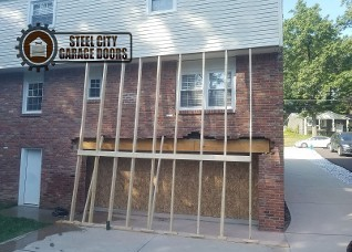 Steel City Garage Doors 2 Single Garage Doors to One Double Framing